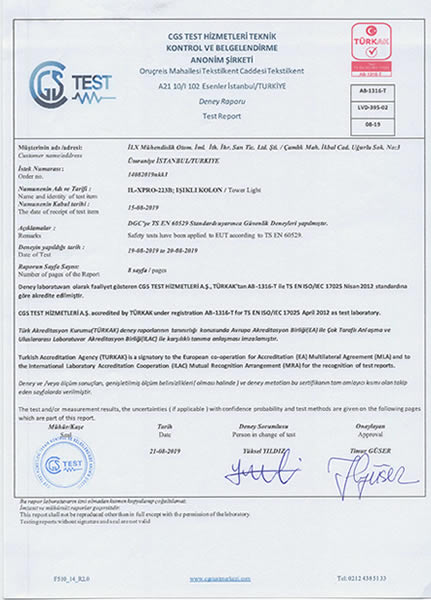 IP TEST CERTIFICATE